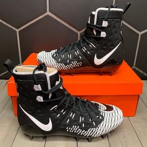 Nike Force Savage Elite TD Black White Cleats